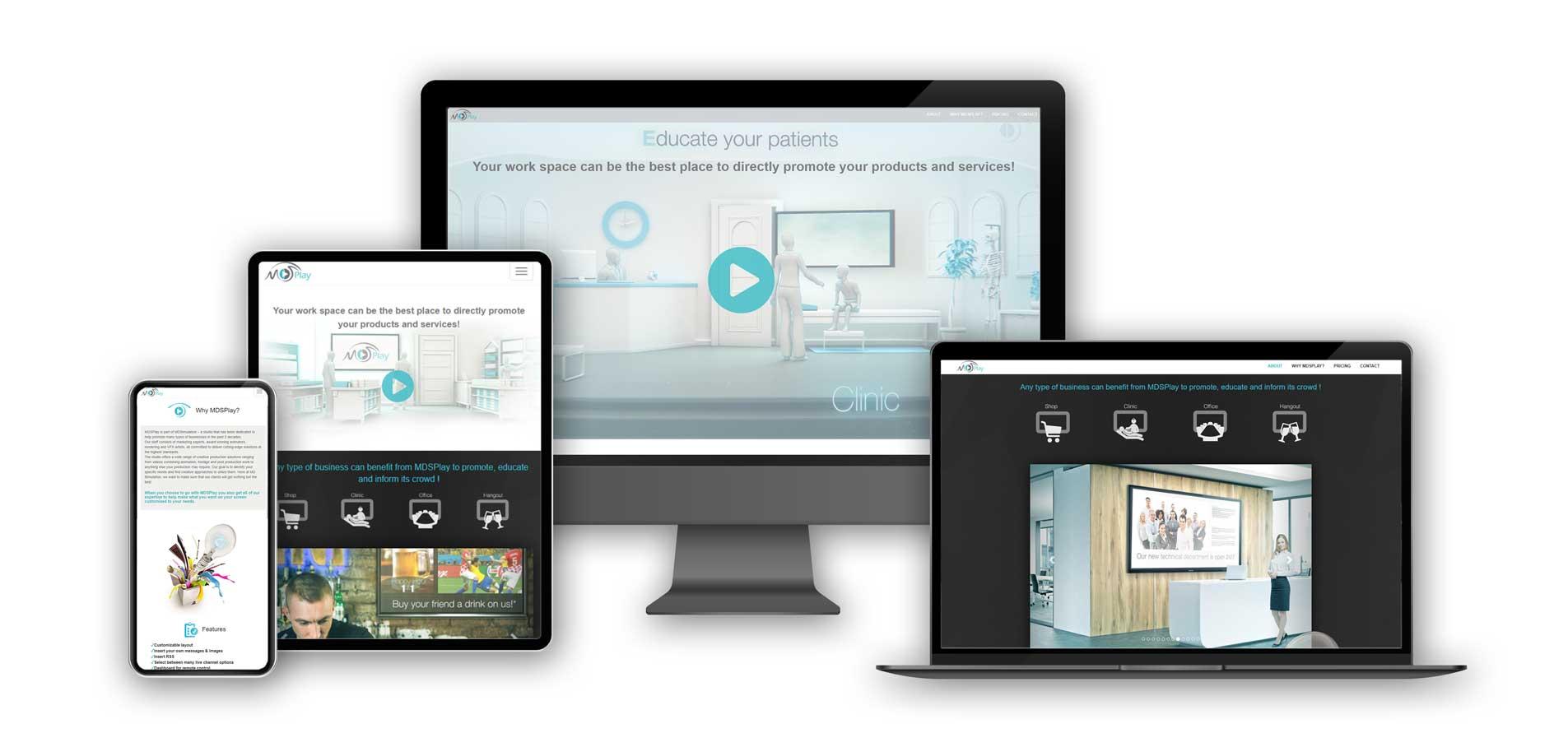MDSplay responsive website