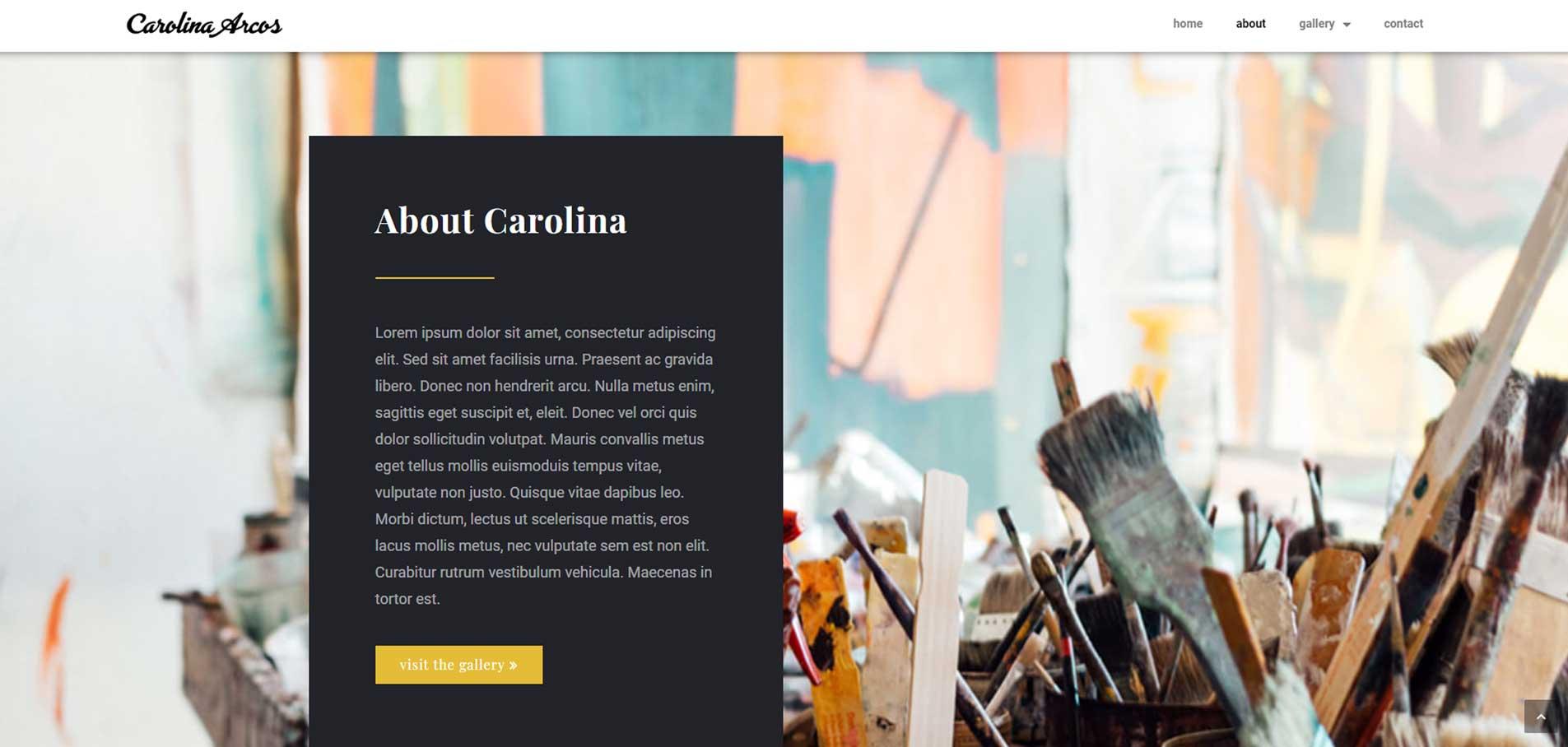 Carolina Arcos about page
