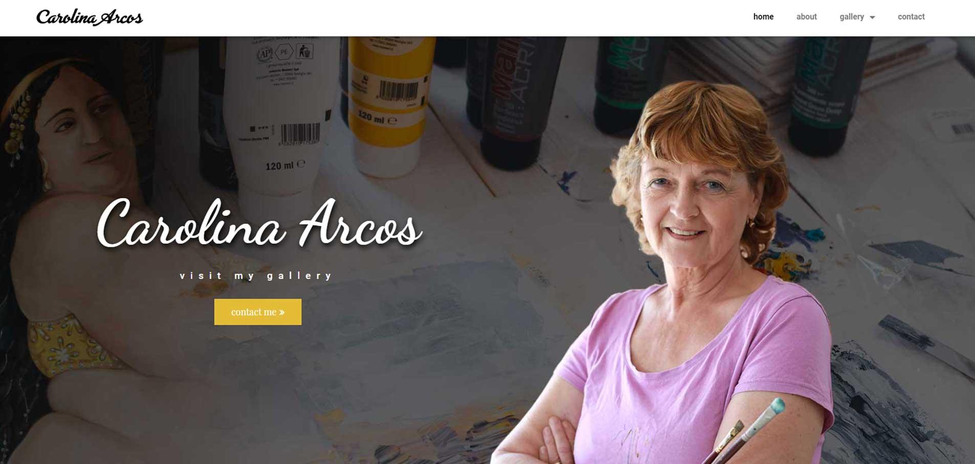 Carolina Arcos website home page