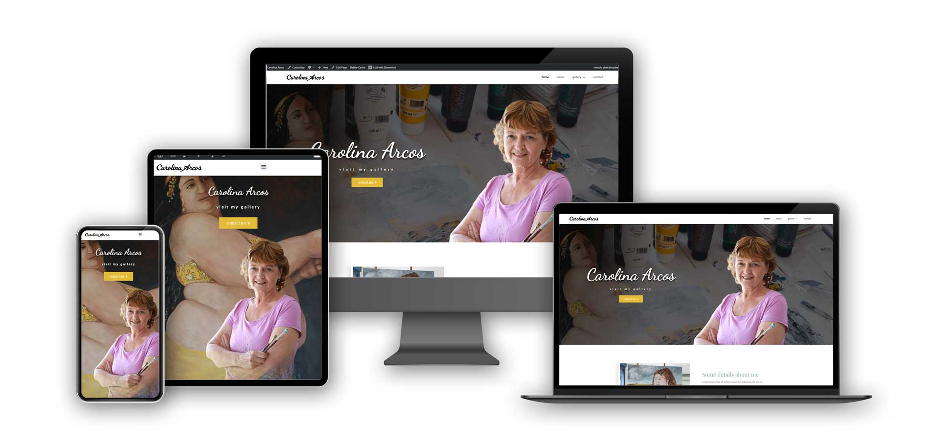 Carolina Arcos website on different screens