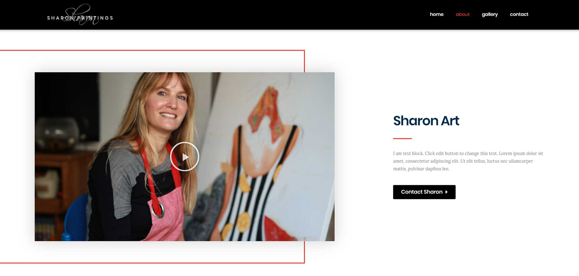 Sharon painting website G