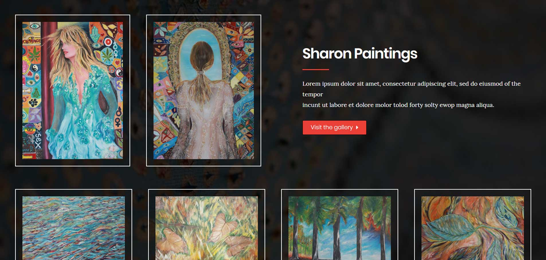 Sharon painting website C