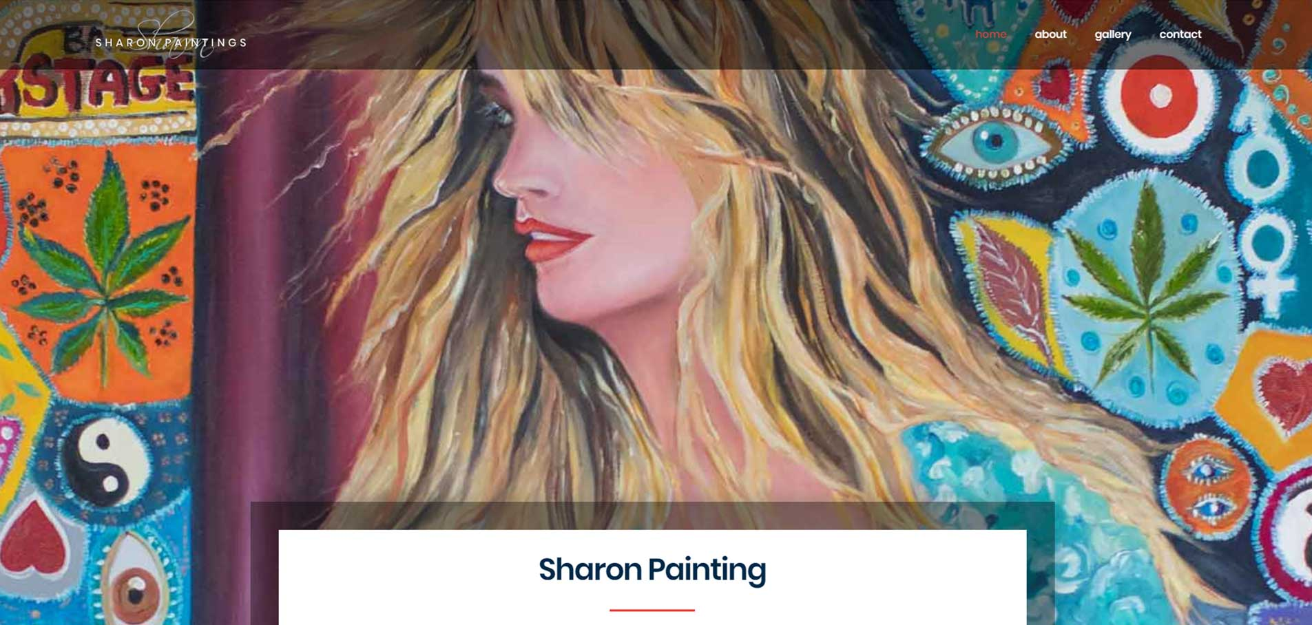 Sharon painting website A