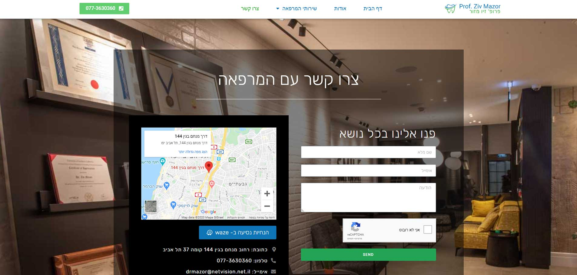 Ziv Mazor website G