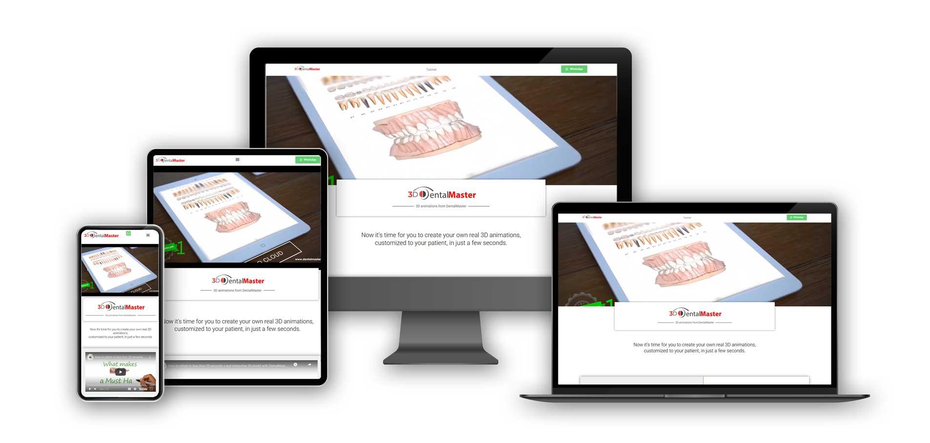 3d-DentalMaster website on various screens