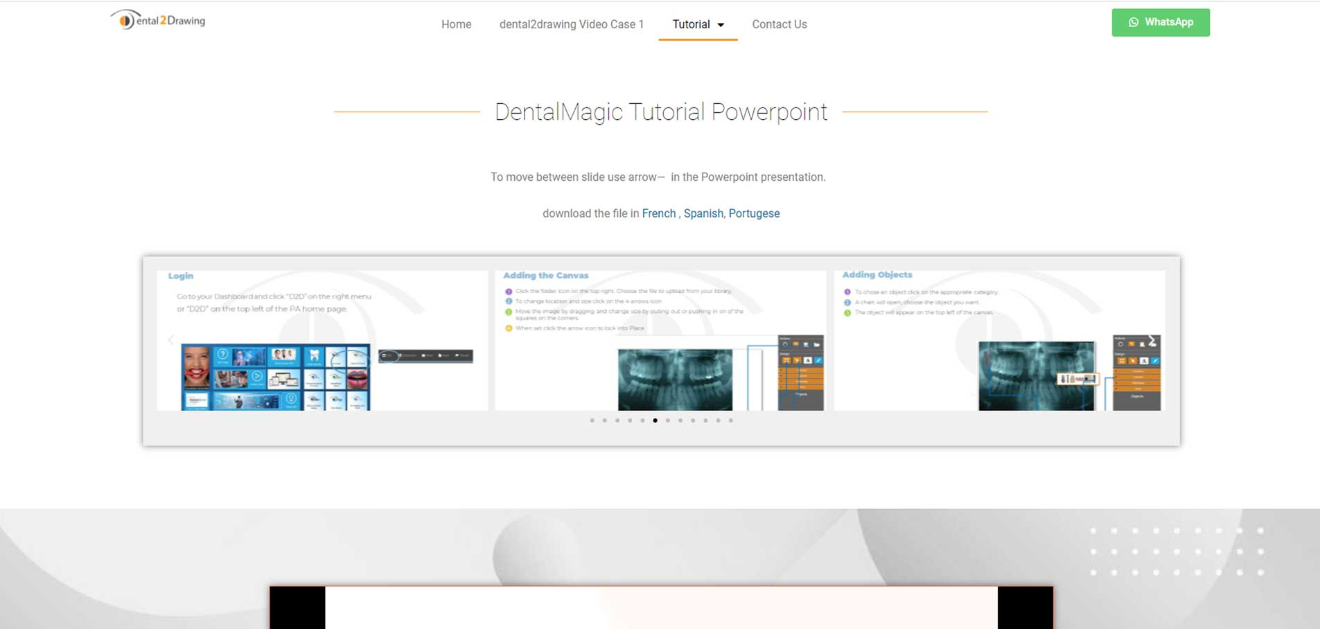 Dental2Drawing website