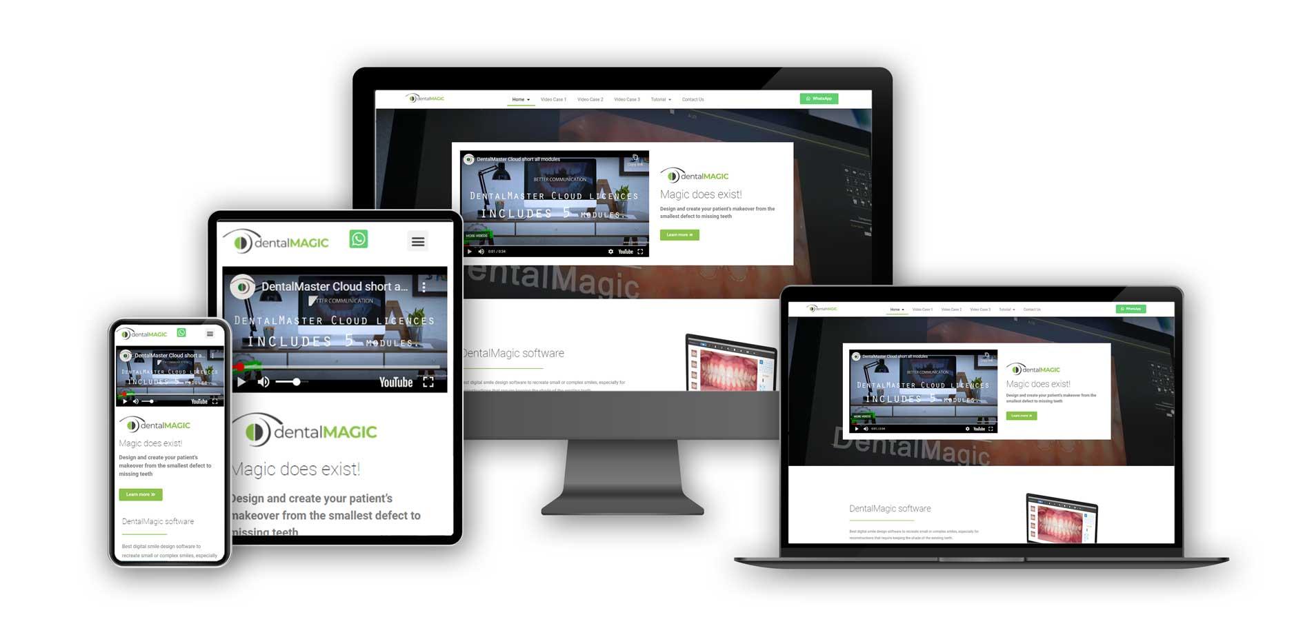 IDentalMagic-website on various screens