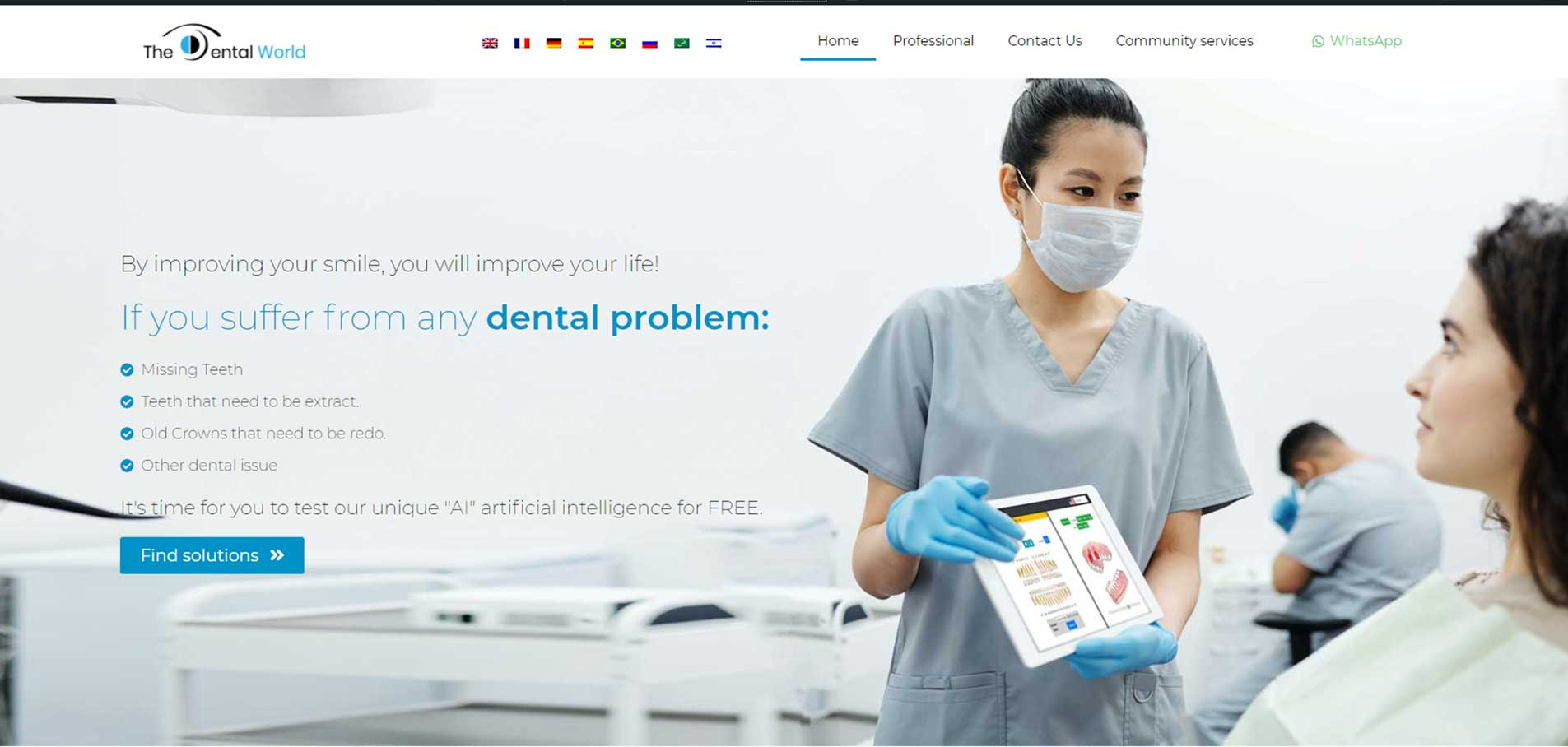 TheDentalWorld landing page